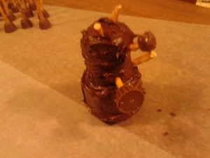 Your completed Chocolate Dalek