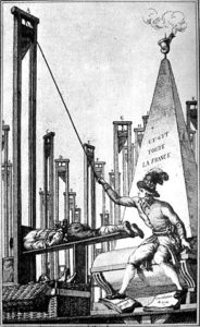Robespierre exécutant le bourreau