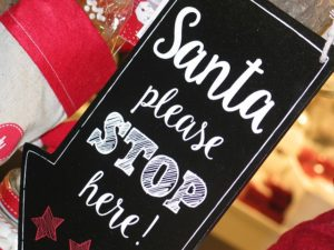 Santa, please stop here